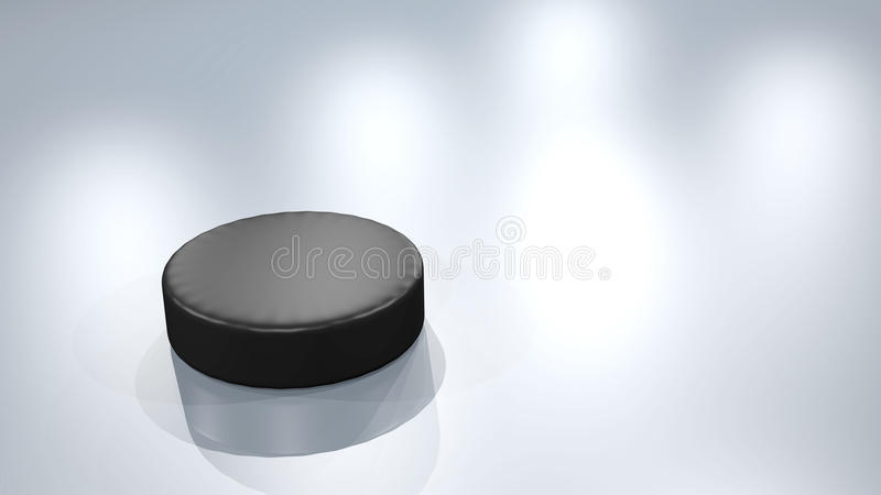 Ice hockey puck royalty free illustration
