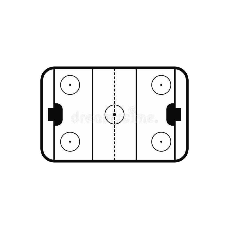 Ice hockey rink icon vector illustration