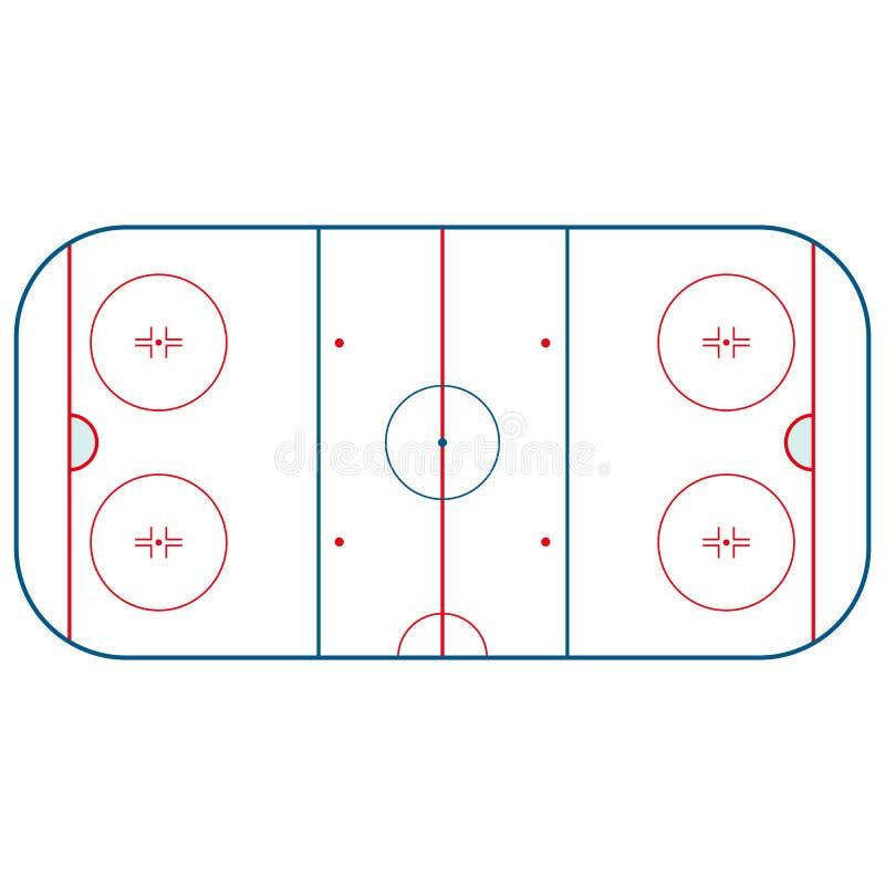 Ice hockey rink stock illustration