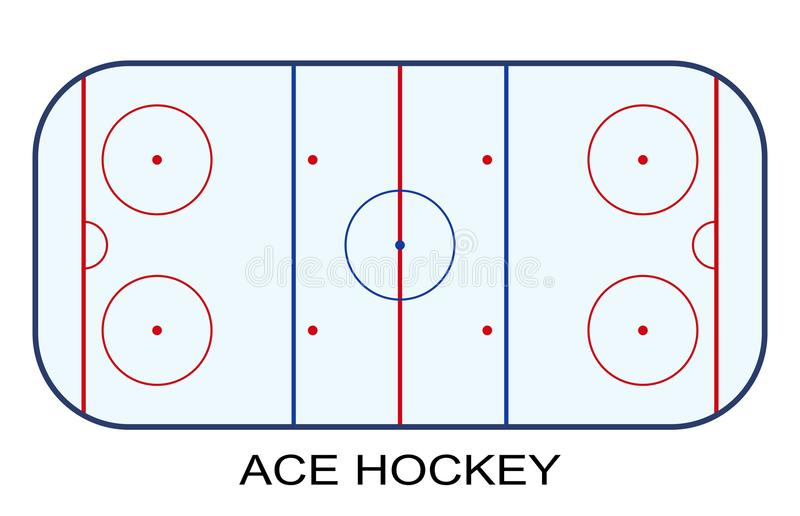 Ice Hockey Rink isolated on white background vector illustration