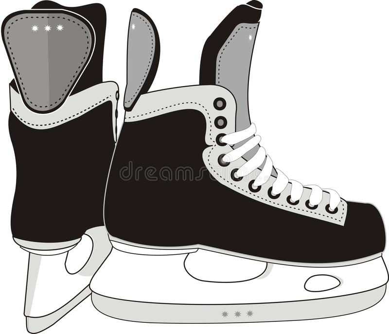 Ice Hockey Skates. Vector illustration of the sports man's hockey skates - isolated, black, grey vector illustration