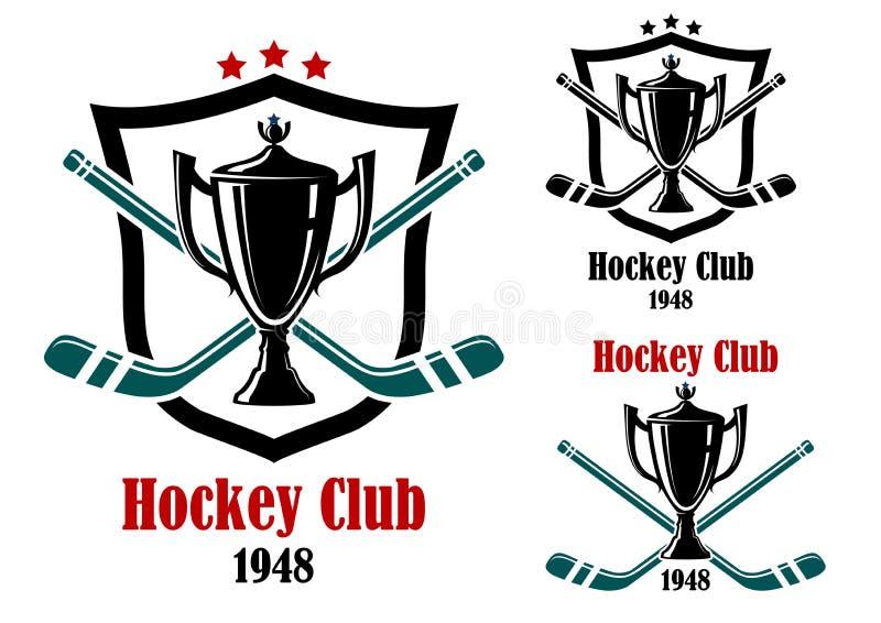 Ice Hockey Sporting Symbols And Emblems Stock Vector Illustration