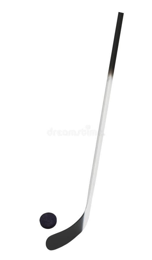 Ice hockey stick. Isolated on white background stock images