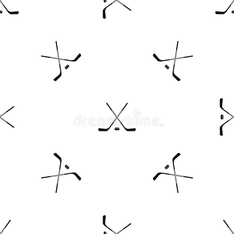Ice hockey sticks pattern seamless black vector illustration