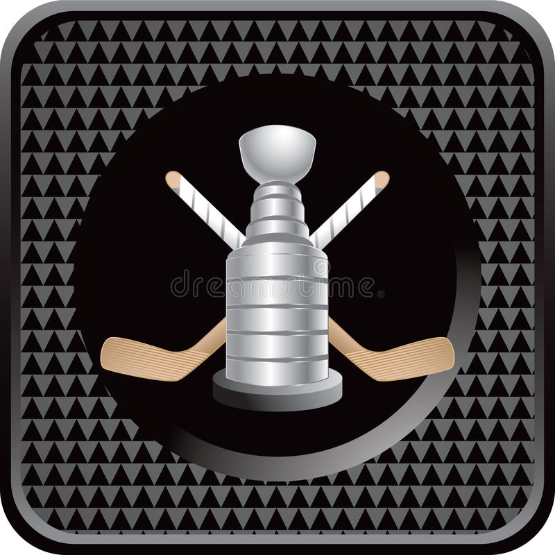 Download Ice Hockey Sticks And Trophy On Black Web Icon Royalty Free Stock Photography - Image: 11014897
