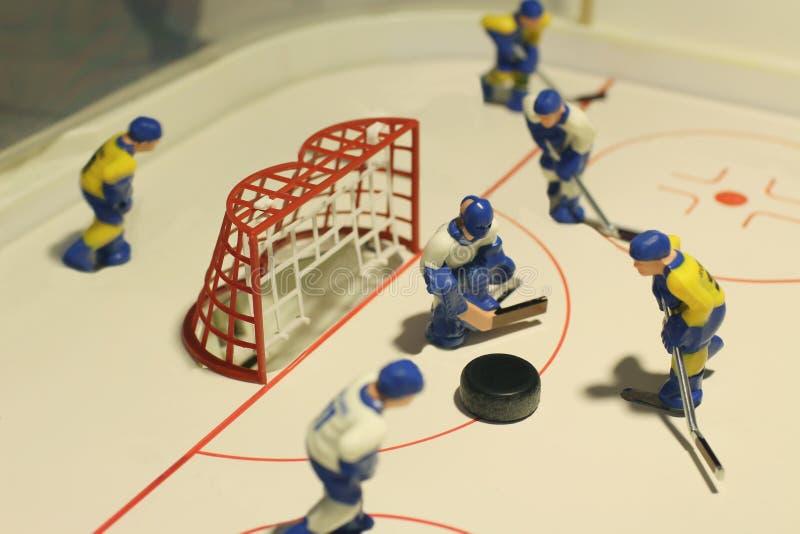Ice hockey table game stock photo