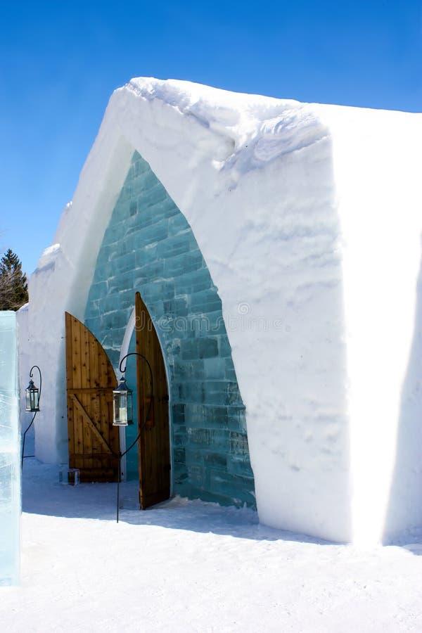 Ice hotel in Quebec city, Canada stock image