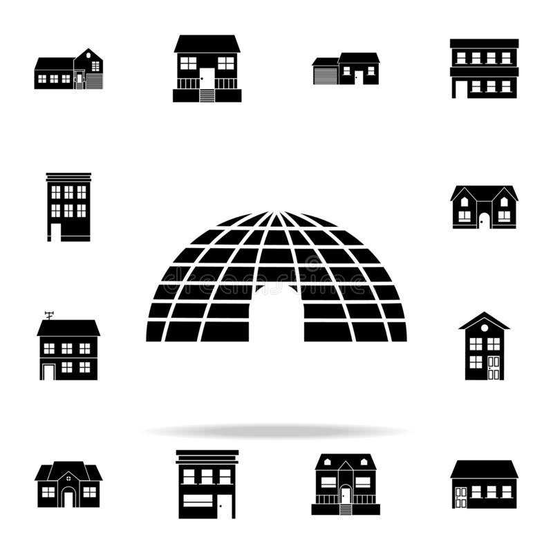ice house icon. house icons universal set for web and mobile stock illustration