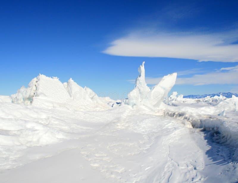 Ice Hummocks Stock Photography