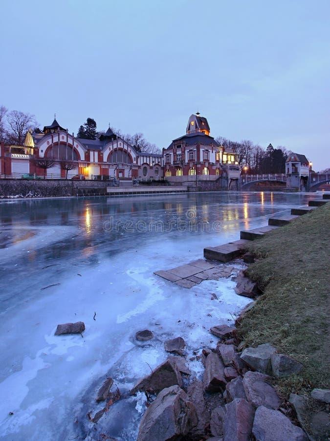 Ice Hydroelectric Power Plant in Hradec Kralove. / Czech Republic royalty free stock photo