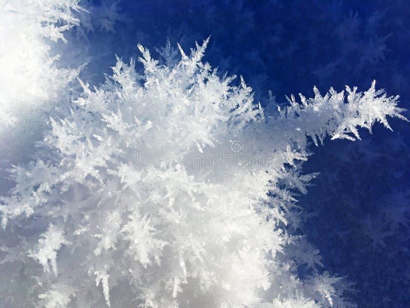 Ice of Kanas Lake in Winter stock photo