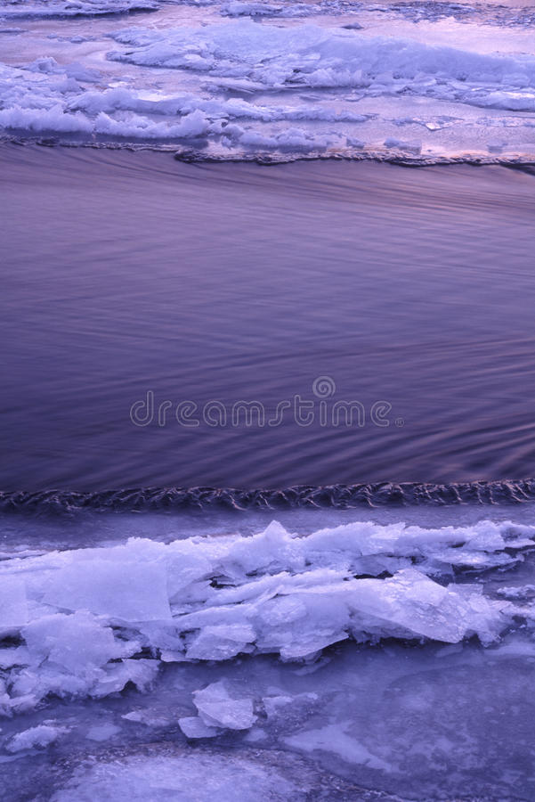 Download Ice on Kishwaukee River stock photo. Image of frozen - 15670954