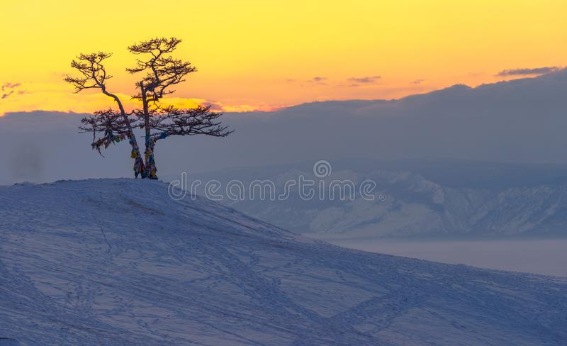 The Ice of Lake Baikal, Russia Mar 2018. The Ice of Lake Baikal, Russia during winter royalty free stock photo