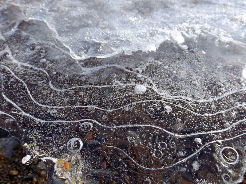 Ice of lake Baikal royalty free stock photos