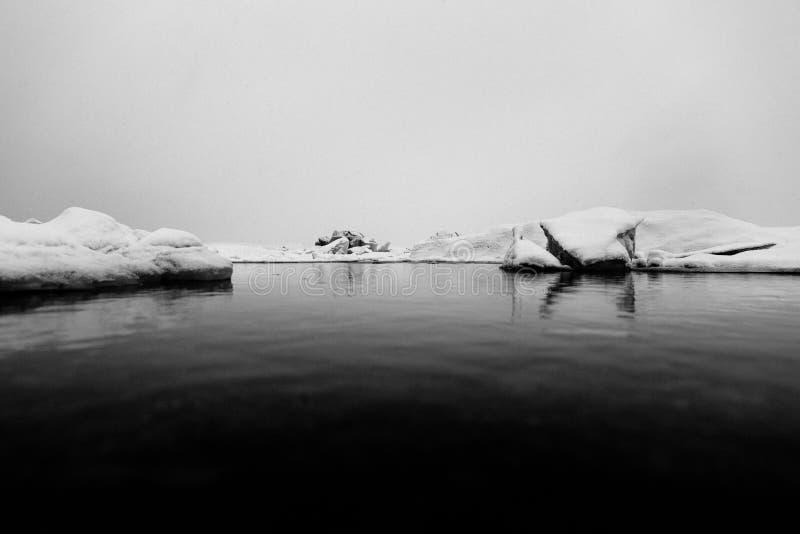 Ice lake royalty free stock photography