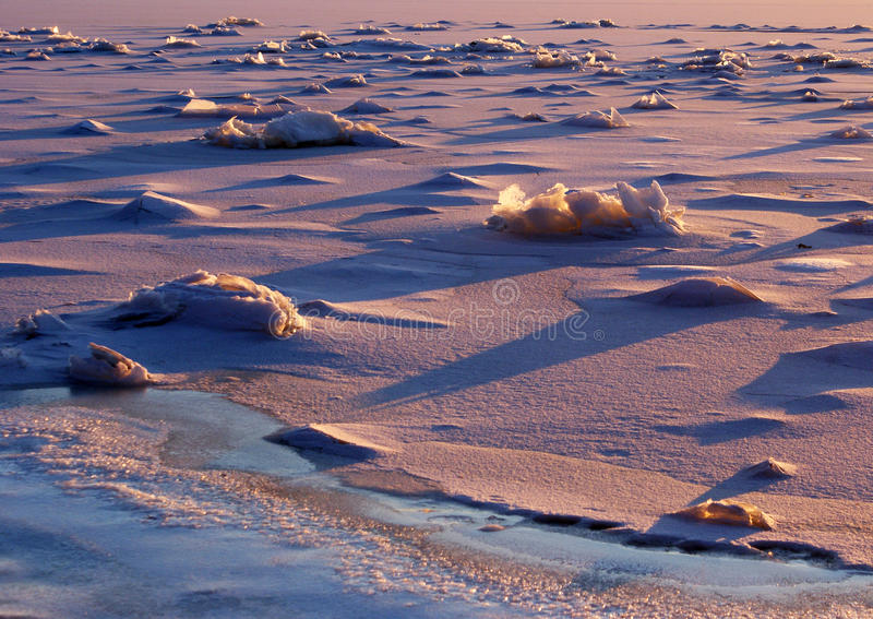 Ice landscape royalty free stock images