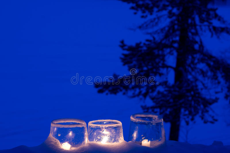 Ice Lanterns Royalty Free Stock Image