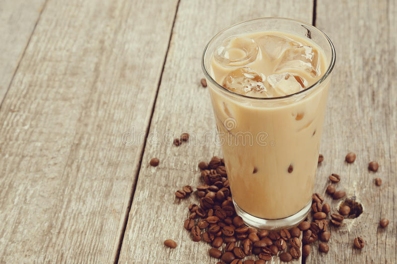 Ice latte. Coffee, drink. Ice latte on the table stock images