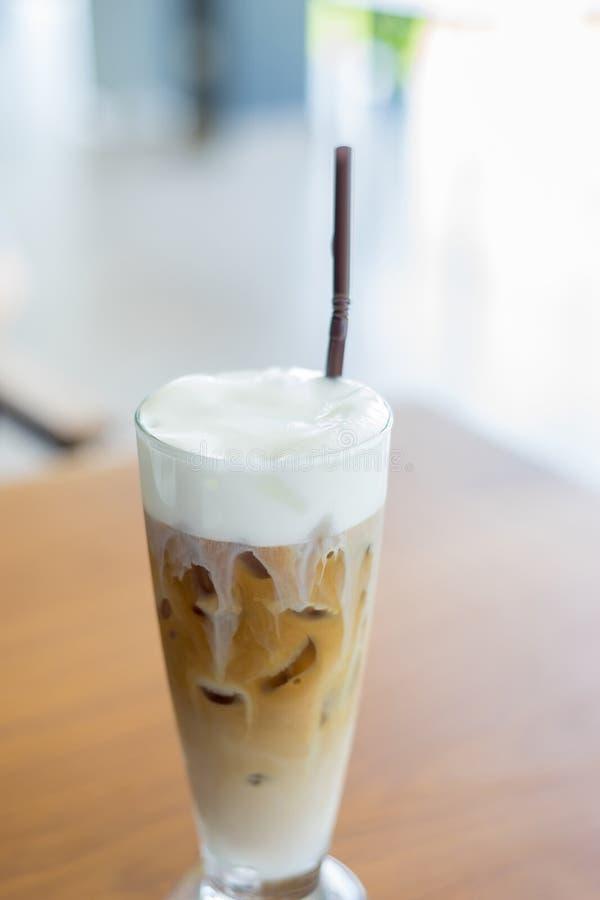 Ice latte. Creamy white on Ice latte stock photography