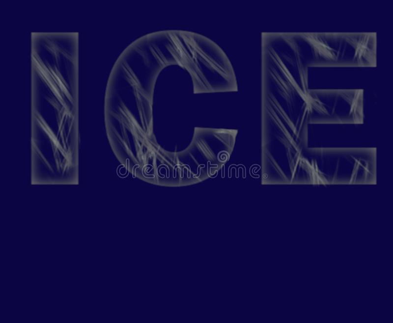ICE Letters with scratches vector illustration