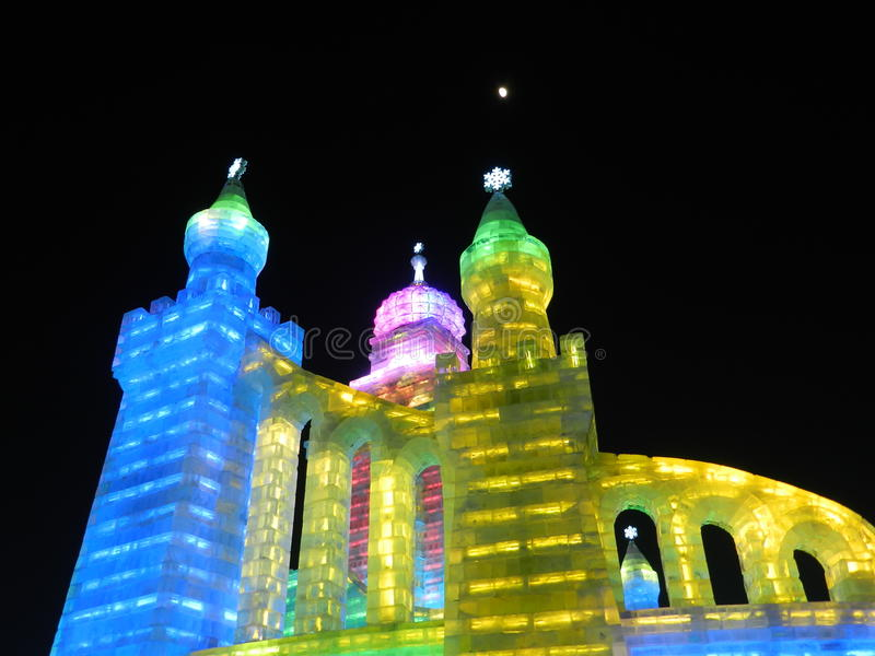 Download Ice light of China Harbin stock photo. Image of scenery - 25504476