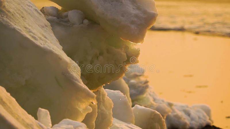 Ice melting stock video footage