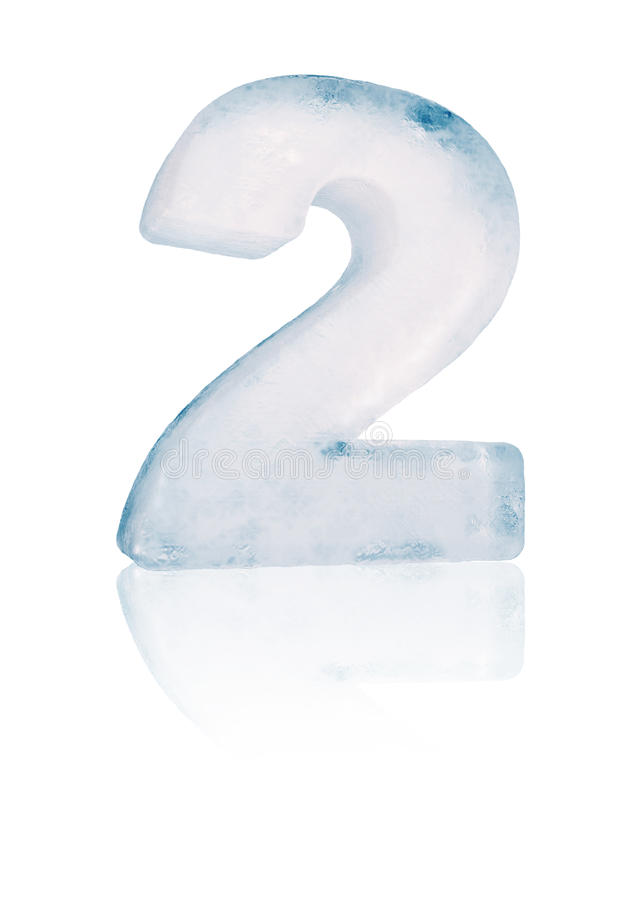 Ice number two illustration vector illustration
