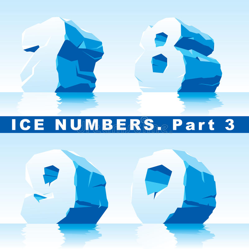 Download Ice numbers Part 3 stock vector. Illustration of letters - 28253440