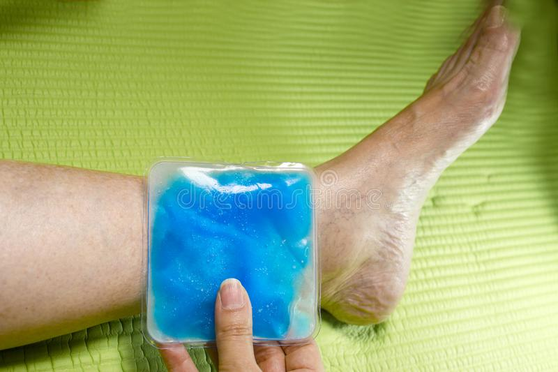 Ice pack for muscle aches royalty free stock images
