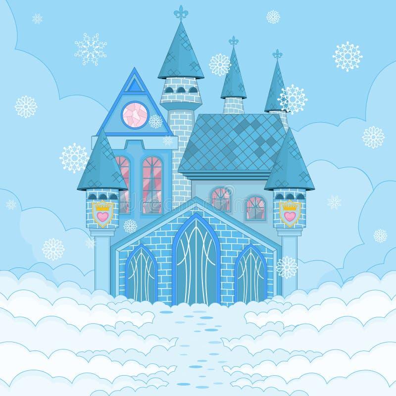 Ice Palace. Fairy Tale Blue Winter Palace stock illustration