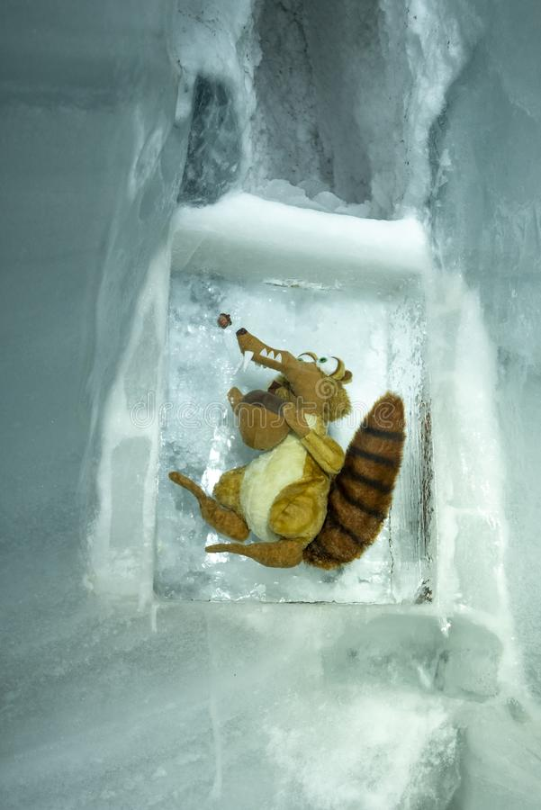 The Ice Palace, Jungfraujoch, Bernese Alps royalty free stock photo