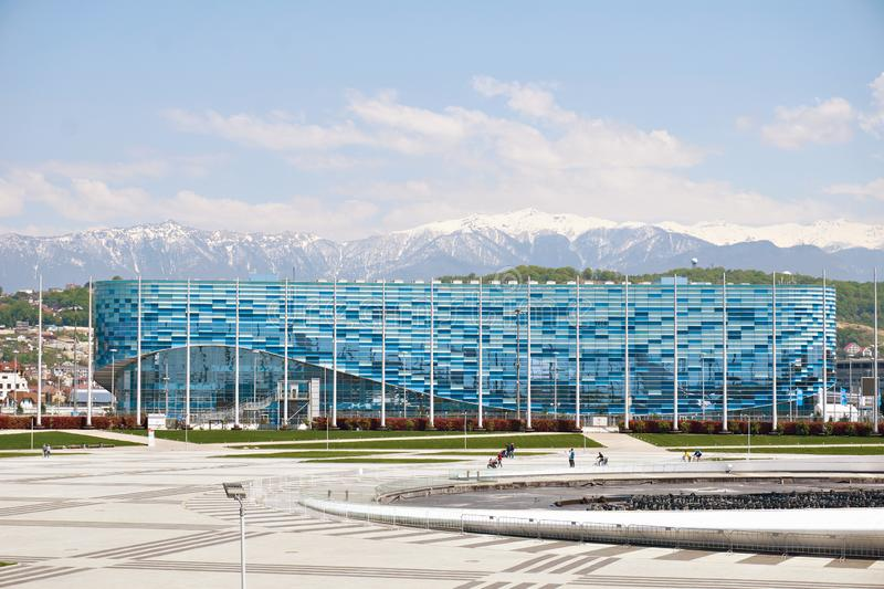 Ice Palace of Sports Iceberg in Olympic Park of Sochi stock images
