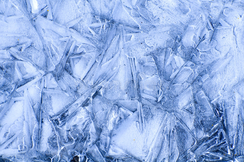Ice pattern. Pattern made by ice crystal after melting and freezing again stock photography