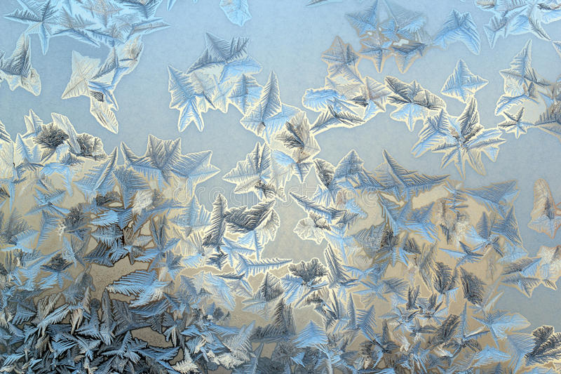 Ice pattern. On a winter glass royalty free stock photos