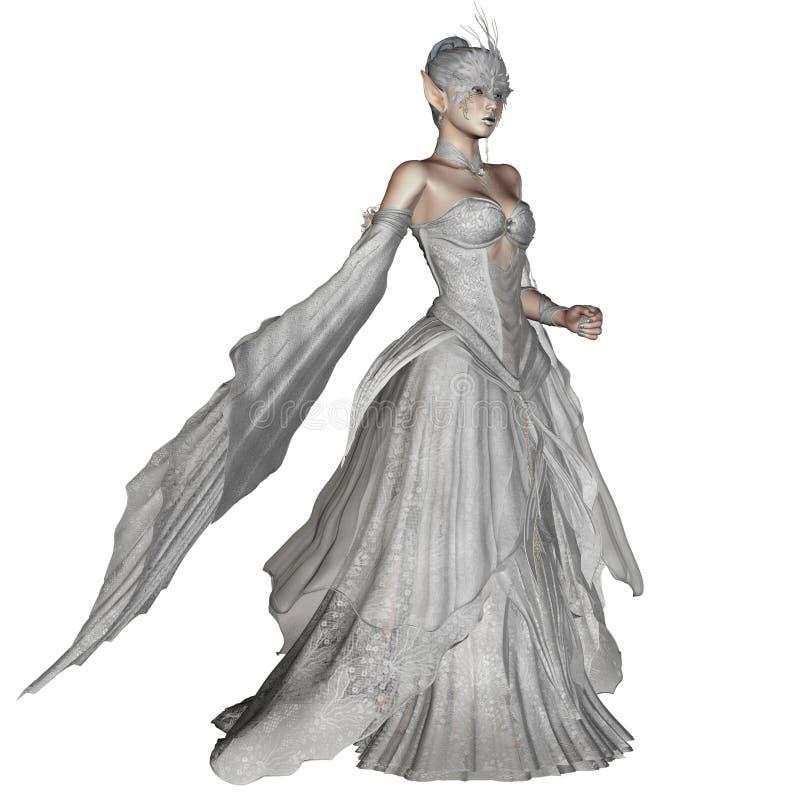 Ice princess vector illustration