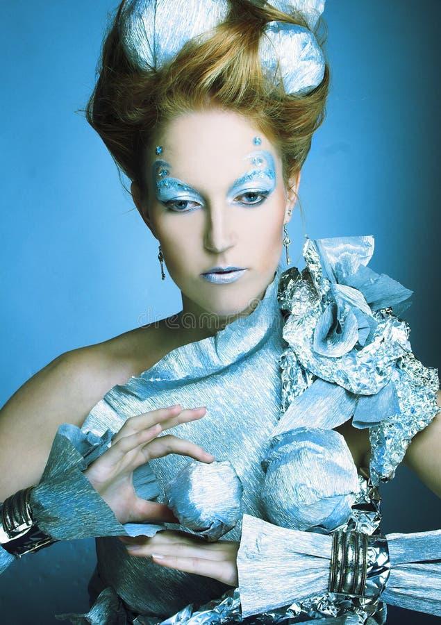 Download Ice-queen. stock image. Image of caucasian, design, girl - 37471959