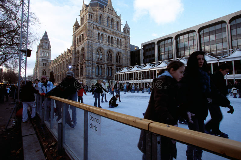 Download Ice Rink At The Natural History Museum, London Editorial Image - Image: 25269750