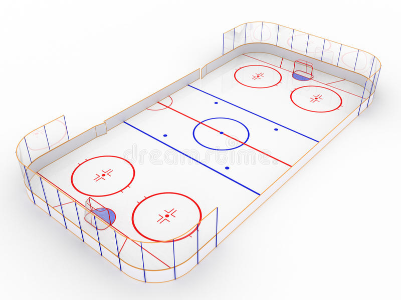 Ice rinks on a white surface. #7 royalty free illustration