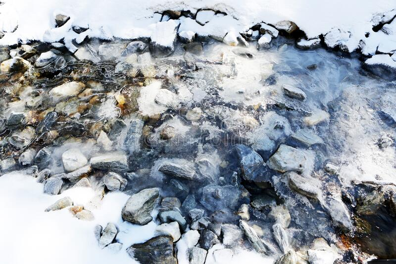 Ice River royalty free stock photography