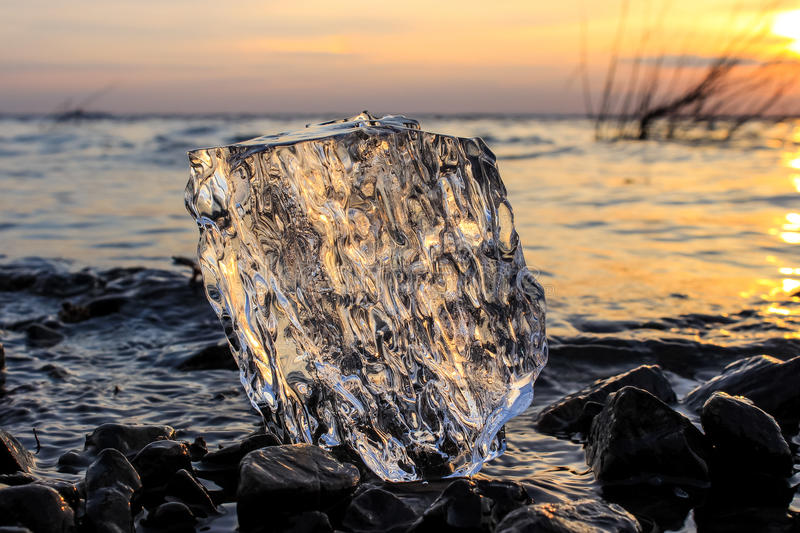 Ice on river royalty free stock image