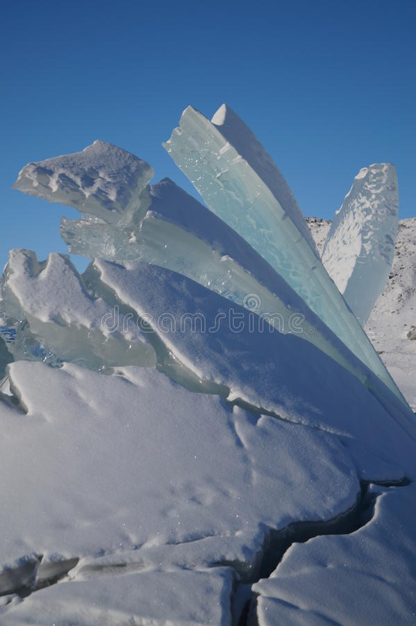 Ice sculpture at Russell Glacier, Greenland. Natural ice sculpture at Russell Glacier, Greenland royalty free stock photos