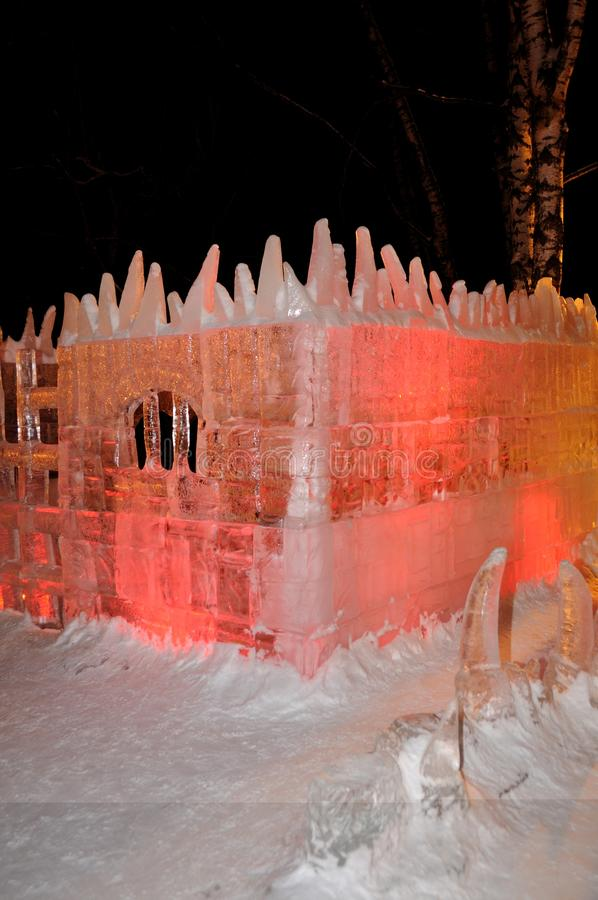 Ice sculptures stock photography