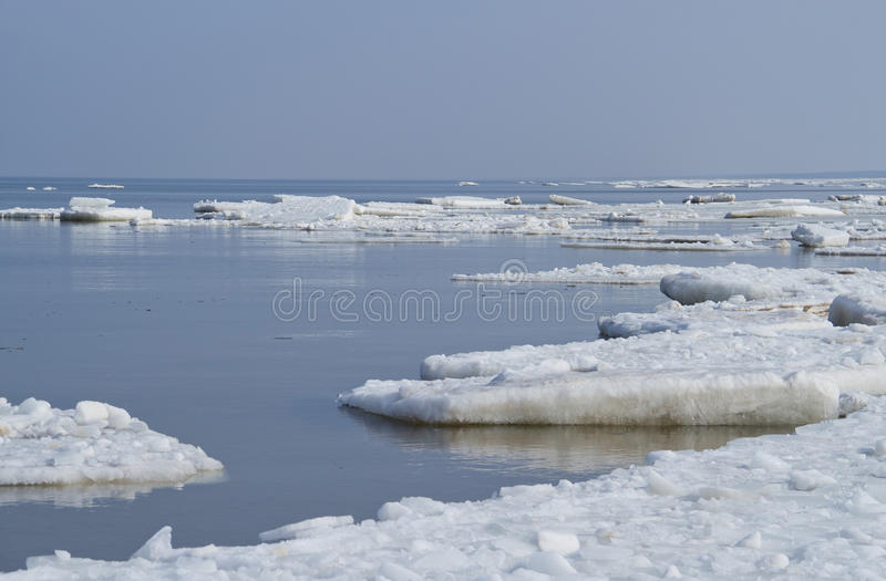 Ice On Sea Stock Images