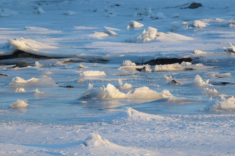 Ice in sea