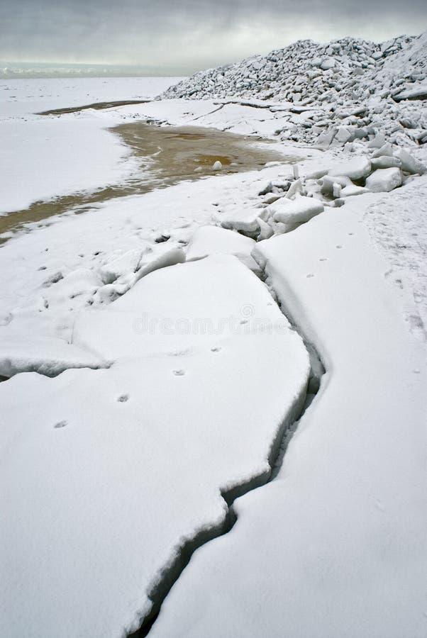 Ice at the sea coast