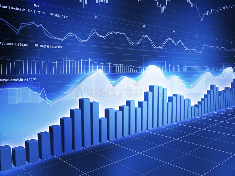 Ice Serieswith Stock Market Ticker stock photo