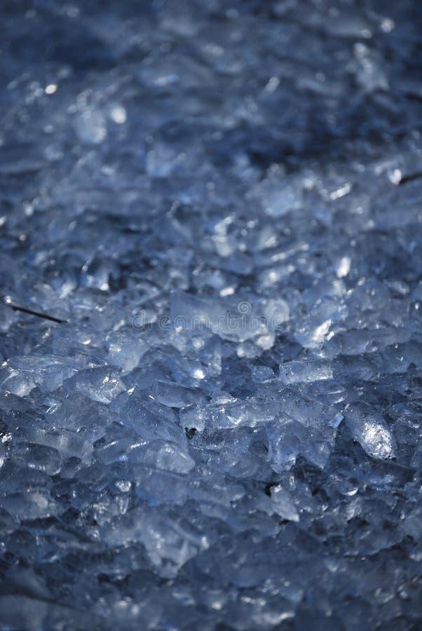 Ice shards. Close up of ice shards stock images