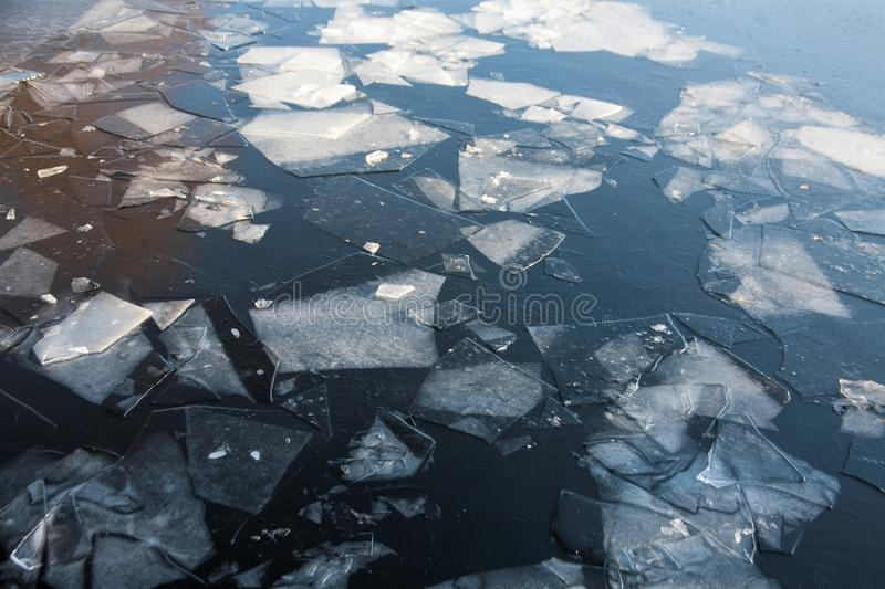 Ice. Shards of ice on the river royalty free stock images