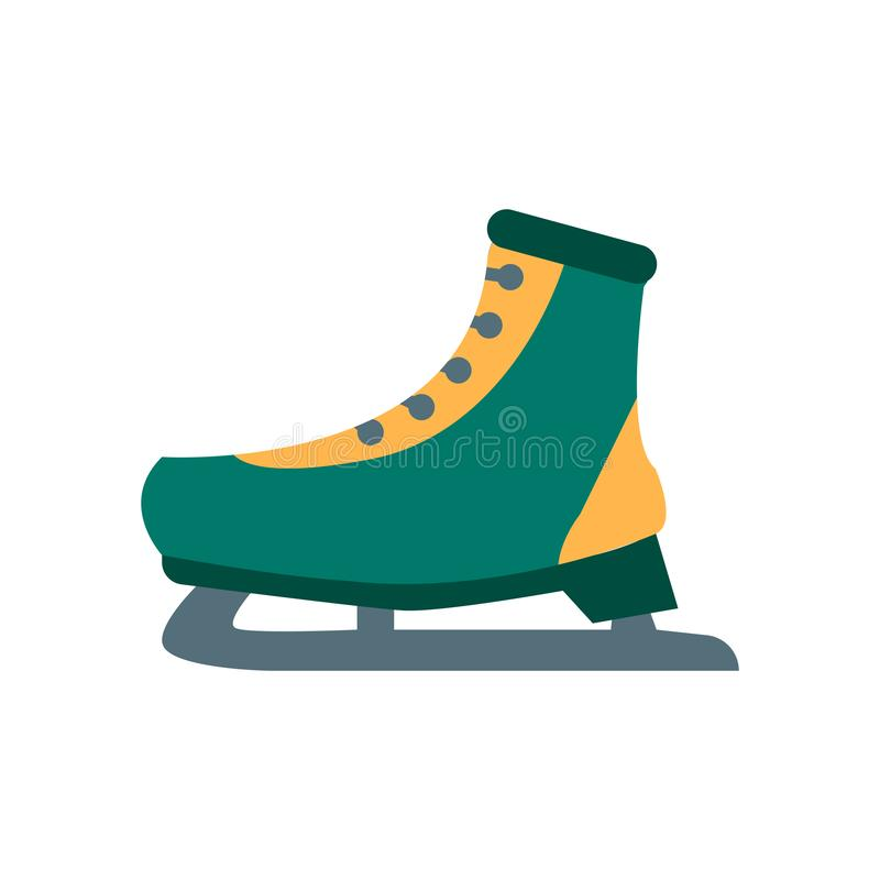 Ice skate icon vector isolated on white background, Ice skate sign , snowy cold winter symbols. Ice skate icon vector isolated on white background, Ice skate stock illustration