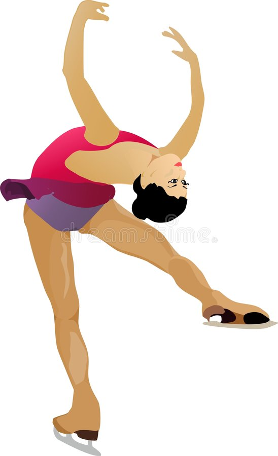 Ice skater royalty free illustration